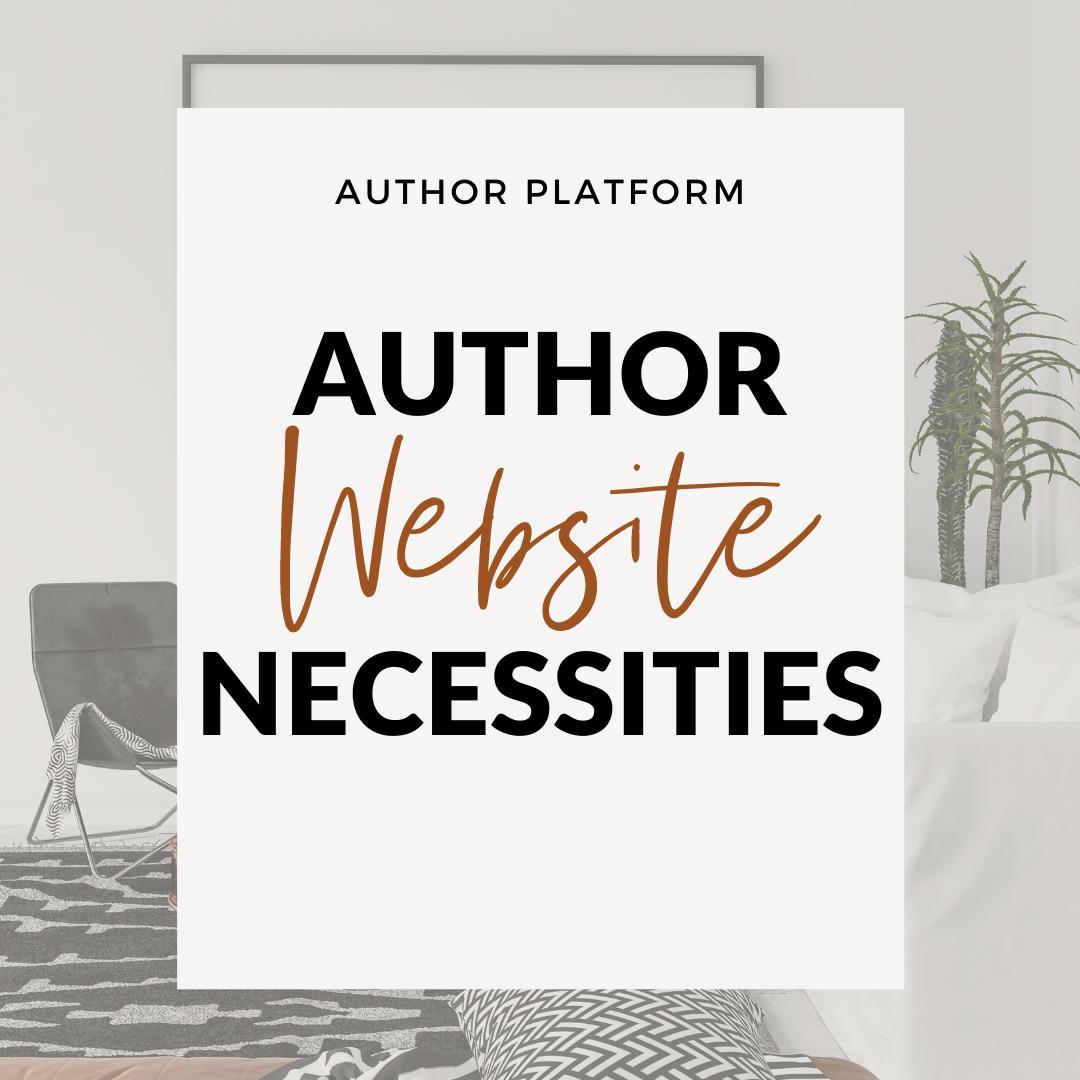 Author Website Necessities