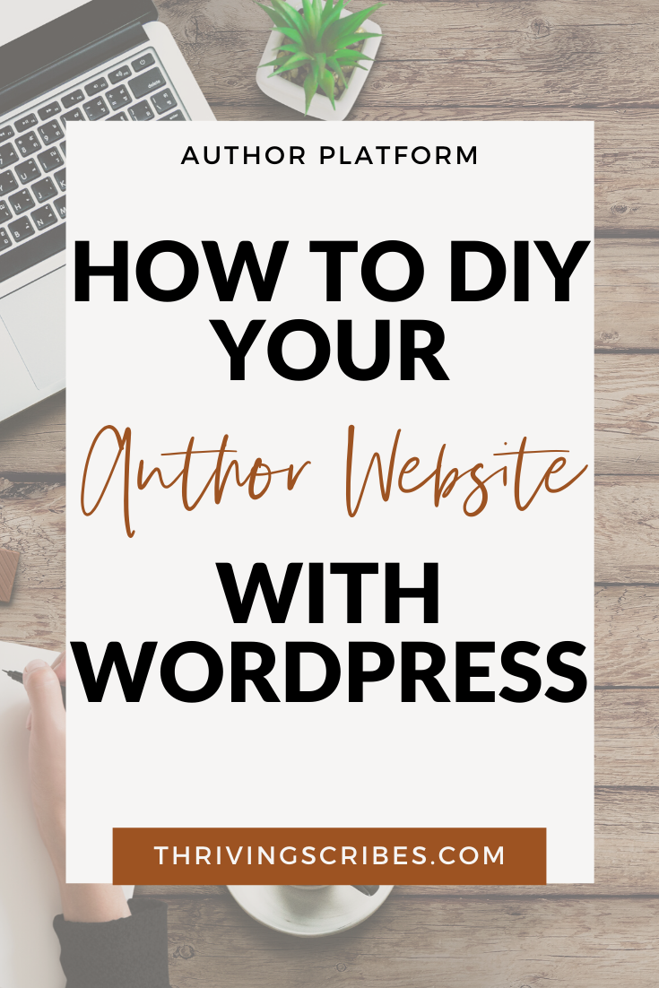 DIY author website wordpress