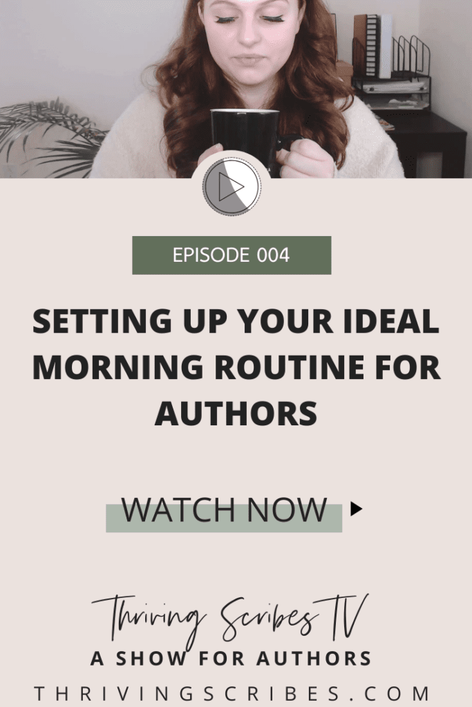morning routine for authors